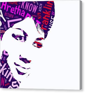 Aretha Franklin Respect Canvas Print
