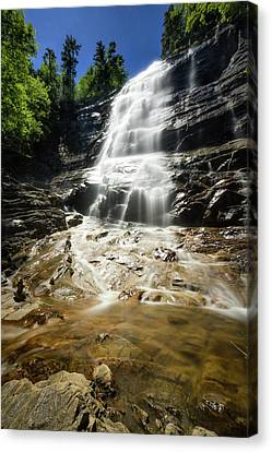 Canvas Print featuring the photograph Arethusa Falls by Robert Clifford