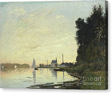 Argenteuil In Late Afternoon Canvas Print by Claude Monet