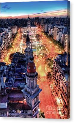 Canvas Print featuring the photograph Argentina National Congress by Bernardo Galmarini