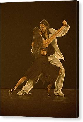 Argentine Tango Dancers Canvas Print by Martin Howard