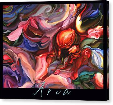 Canvas Print featuring the painting Aria - Original Acrylic Painting With Added Border-title by Brooks Garten Hauschild