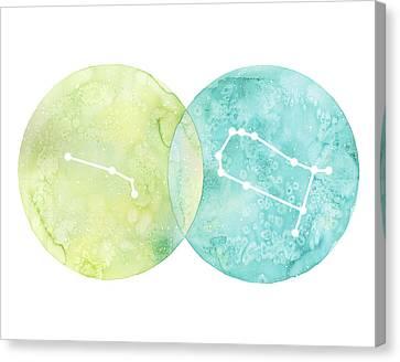 Aries And Gemini Canvas Print by Stephie Jones