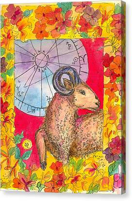 Canvas Print featuring the painting Aries by Cathie Richardson