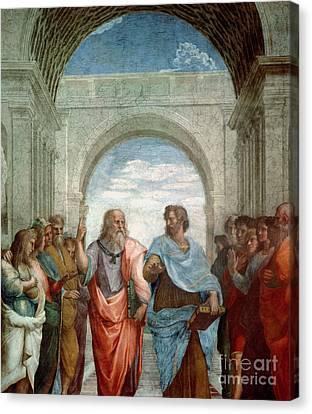 Aristotle And Plato Canvas Print