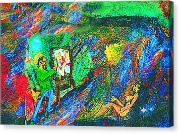 Aritist And Model Canvas Print