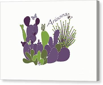 Arizona Cacti Canvas Print by Methune Hively