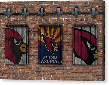 Arizona Cardinals Brick Wall Canvas Print by Joe Hamilton