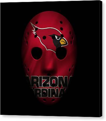 Arizona Cardinals War Mask Canvas Print
