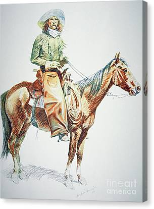 Arizona Cowboy, 1901 Canvas Print by Frederic Remington