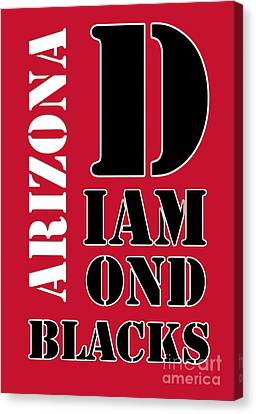 Diamondbacks Canvas Print - Arizona Diamondbacks Baseball Typography Red by Pablo Franchi