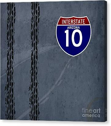 Arizona, Interstate 10, Hot Wheels Canvas Print by Pablo Franchi