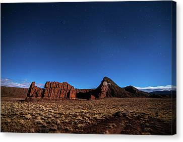 Arizona Landscape At Night Canvas Print