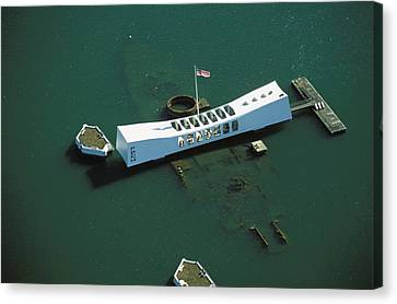 Arizona Memorial Aerial Canvas Print
