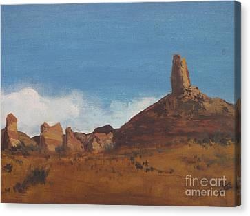 Canvas Print featuring the painting Arizona Monolith by Suzette Kallen