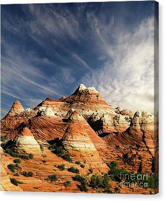 Canvas Print featuring the photograph Arizona North Coyote Buttes by Bob Christopher