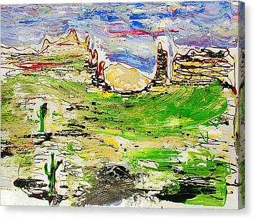 Canvas Print featuring the painting Arizona Skies by J R Seymour