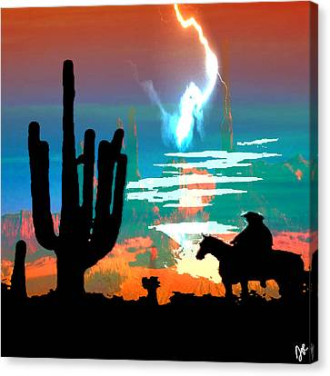 Canvas Print featuring the photograph Arizona Skies by Ken Walker