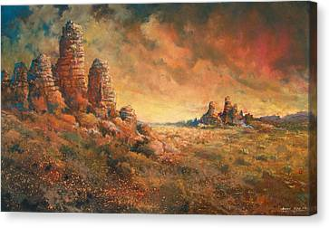 Arizona Sunset Canvas Print by Andrew King