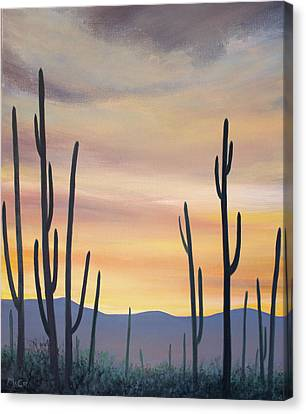 Arizona Sunset Canvas Print by K McCoy