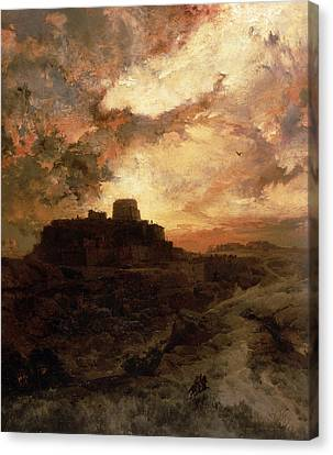 Pueblo Canvas Print - Arizona Sunset by Thomas Moran