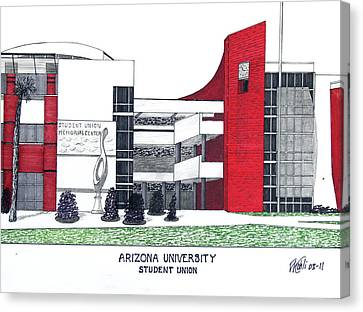Arizona University Canvas Print by Frederic Kohli