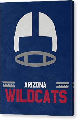 March Canvas Print - Arizona Wildcats Vintage Football Art by Joe Hamilton