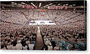 Arizona Wildcats White Out At Mckale Center Canvas Print by Replay Photos