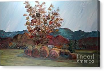 Arkansas Autumn Canvas Print by Nadine Rippelmeyer