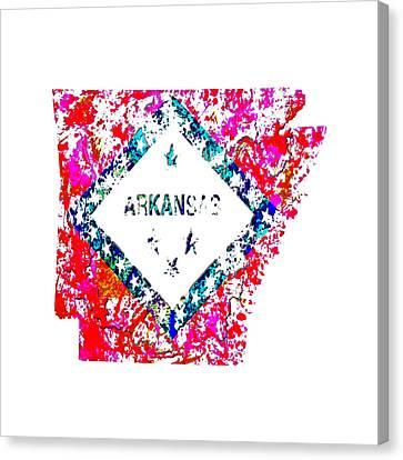 Arkansas Toothpick Canvas Print - Arkansas Paint Splatter by Brian Reaves
