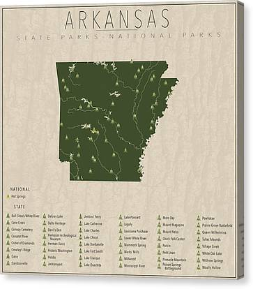 Arkansas Parks Canvas Print by Finlay McNevin