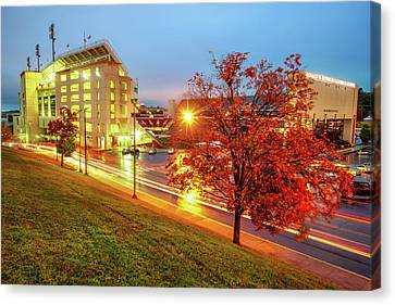 Arkansas Razorback Red - Donald W. Reynolds Stadium - Fayetteville Arkansas Canvas Print by Gregory Ballos
