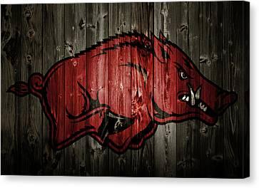 Arkansas Razorbacks 2b Canvas Print