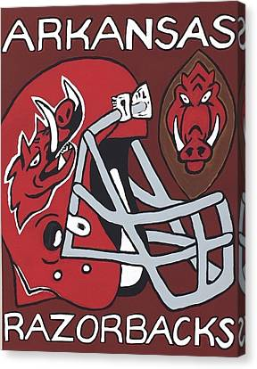 Arkansas Razorbacks Canvas Print by Jonathon Hansen