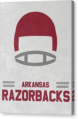 Razorbacks Canvas Print - Arkansas Razorbacks Vintage Football Art by Joe Hamilton