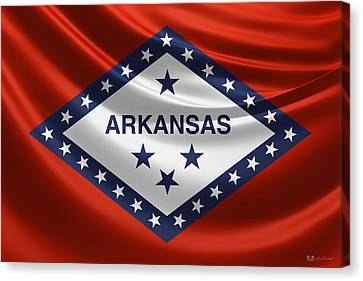 Arkansas State Flag Canvas Print by Serge Averbukh