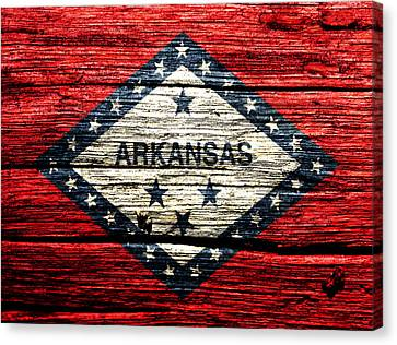 Arkansas Toothpick Canvas Print - Arkansas State Flag W1 by Brian Reaves