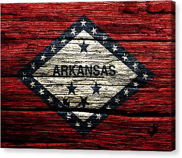 Arkansas State Flag W2 Canvas Print