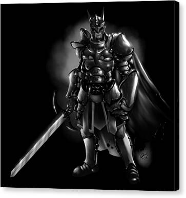 Arkham Knight Canvas Print by Pete Tapang