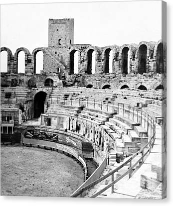 Arles Amphitheater A Roman Arena In Arles - France - C 1929 Canvas Print by International  Images
