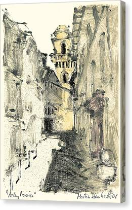 Canvas Print featuring the painting Arles Provence by Martin Stankewitz