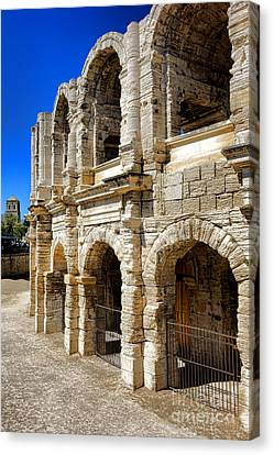 Canvas Print featuring the photograph Arles Roman Amphitheater by Olivier Le Queinec