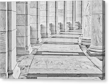 Canvas Print featuring the photograph Arlington Amphitheater Arches And Columns II by Susan Candelario