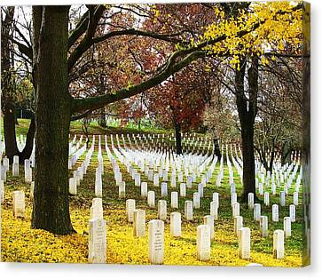Arlington In Yellow Canvas Print