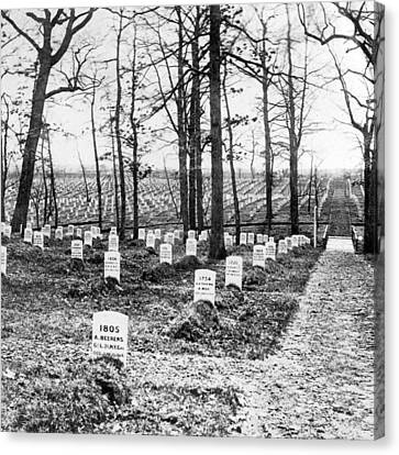 Arlington National Cemetery - C 1867 Canvas Print by International  Images