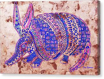 Armadillo Canvas Print by J- J- Espinoza