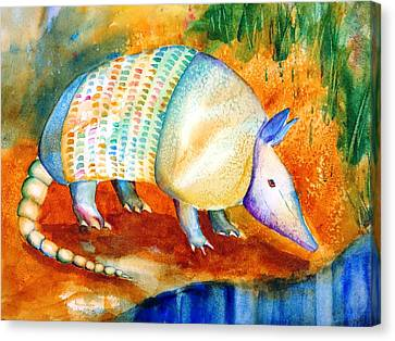 Armadillo Reflections Canvas Print by Carlin Blahnik