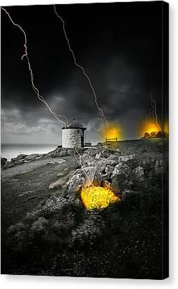 Armageddon Canvas Print by Jaroslaw Grudzinski