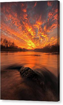 Spectacular Canvas Print - Fire On Sky by Davorin Mance