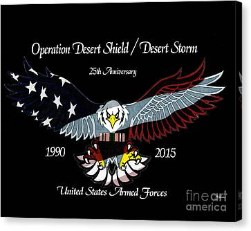 Armed Forces Desert Storm Canvas Print by Bill Richards